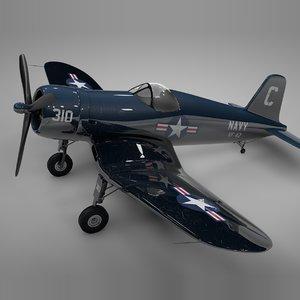 3D model f4u corsair vought usa