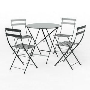 fermob bistro furniture chairs 3D model