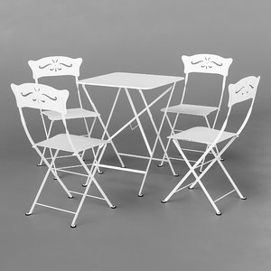 3D fermob bagatelle bistro chair designer model