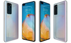 huawei p40 ice white 3D model