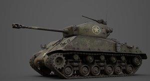 3D sherman m4 tank