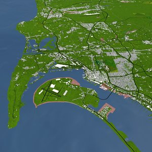 3D san diego city model