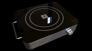 electric cooktop cooking 3D model