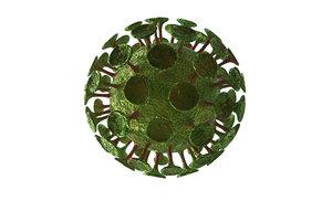 coronavirus virus corona 3D model