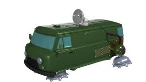 retro uaz-2206 3D model