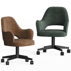 colette office chair baxter 3D model