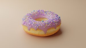 3D donut illustration rendering