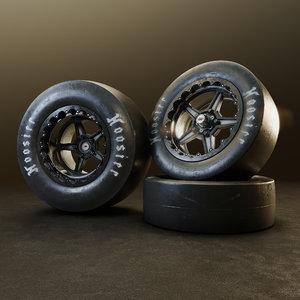 wheel racing hoosier 3D model
