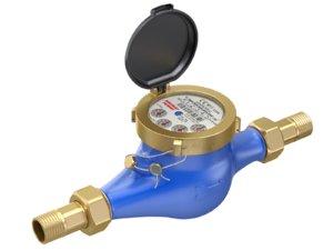 meter water 3D model