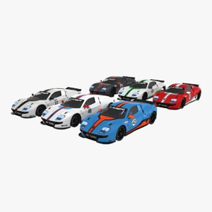 3D race ligier js2 r model