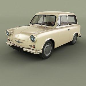 3D 1958 trabant p50 kombi model