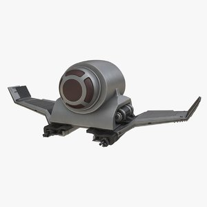 spaceship spacecraft vehicle 3D model