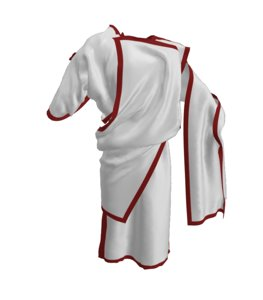 clothes tunics ancient greek 3D model