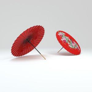 japanese umbrella 3D