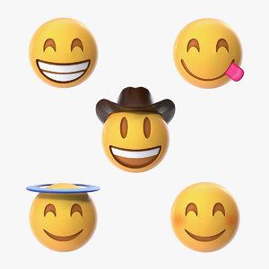 3D smiling emoji model