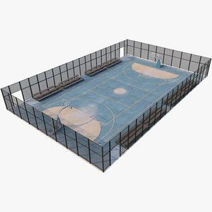3D court basketball