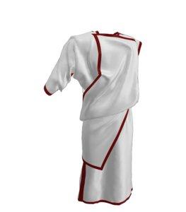 clothes tunics ancient roman 3D model