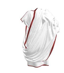 clothes tunics ancient greek 3D
