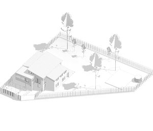 single house revit architecture 3D model
