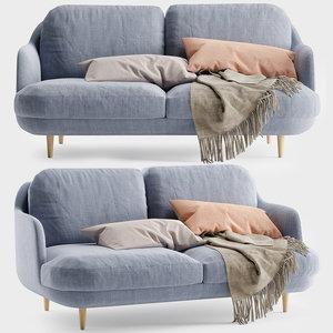 fritz hansen lune sofa 3D model