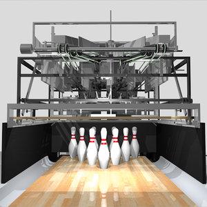 bowling pin pinsetter 3D