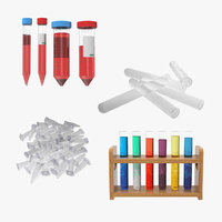 Laboratory Test Tubes Collection