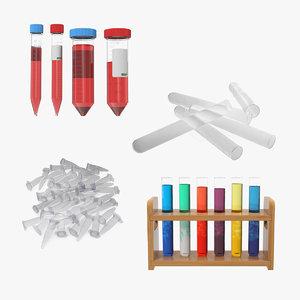 laboratory test tubes lab equipment 3D