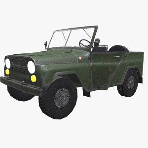 uaz 469 jeep pbr model