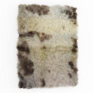 3D carpet wool sheepskin soft model