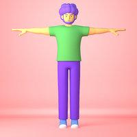 Cartoon Character adult man