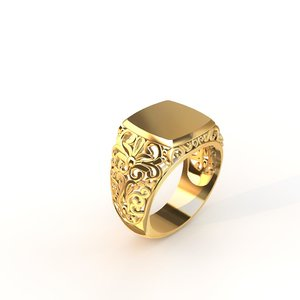 ring silver gold 3D model