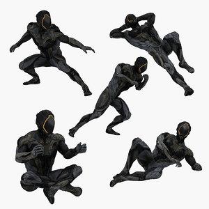 sci-fi man pose 3D model