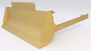 3D bucket bulldozer