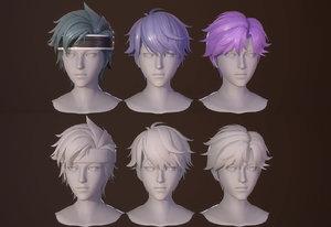 3D hair boy cartoon