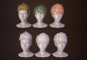3D boy cartoon hair