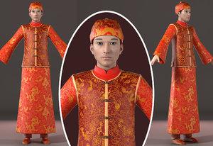 man dress asian 3D