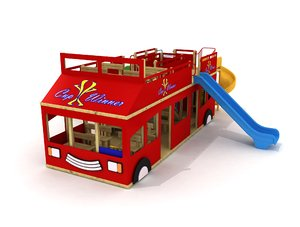 bus concept playground 3D model