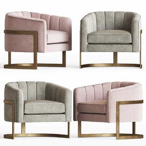 3D model armchair pure elegance