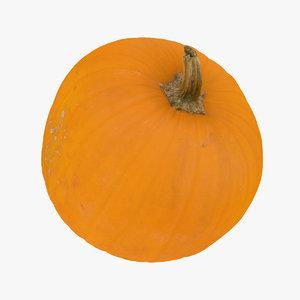 3D jack o lantern pumpkin model