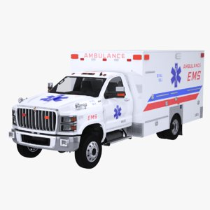 international cv ems ambulance 3D model