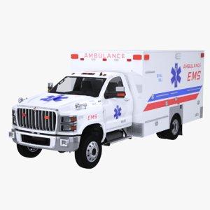 international cv ems ambulance 3D model
