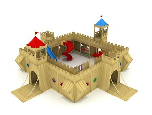 3D model castle child playground
