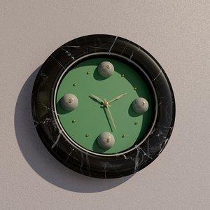 3D billiard wall clock model