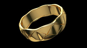 ring chanel gold coco 3D model
