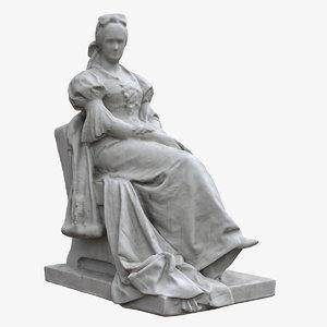 palne veres statue 3D model