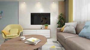 3D model decorative room 360 panorama