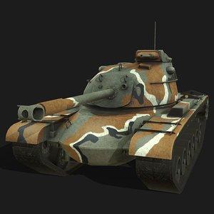 m48a3 tank 3D model