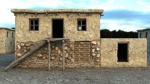 3D model mud house