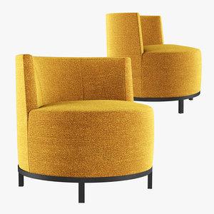 3D encircle lounge chair model