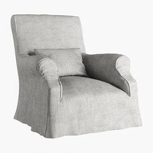 oliver gustav armchair 3D model